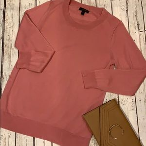 Women's J. Crew blush pink light sweater medium